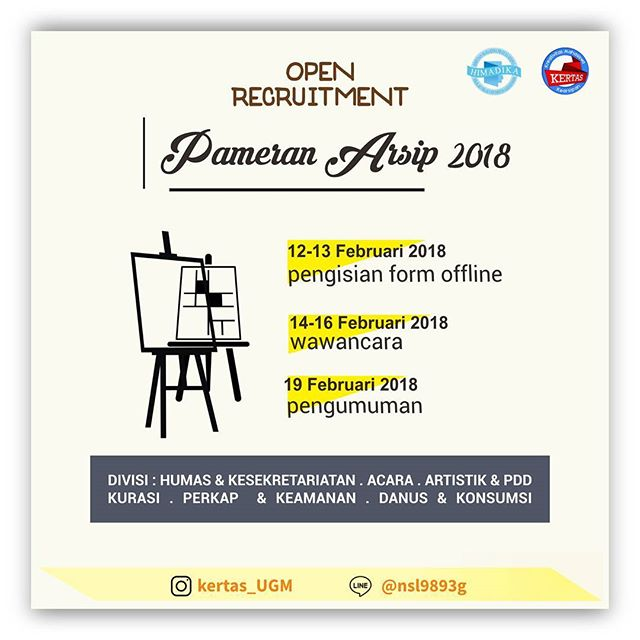 Open Recruitment Panitia Pameran Arsip